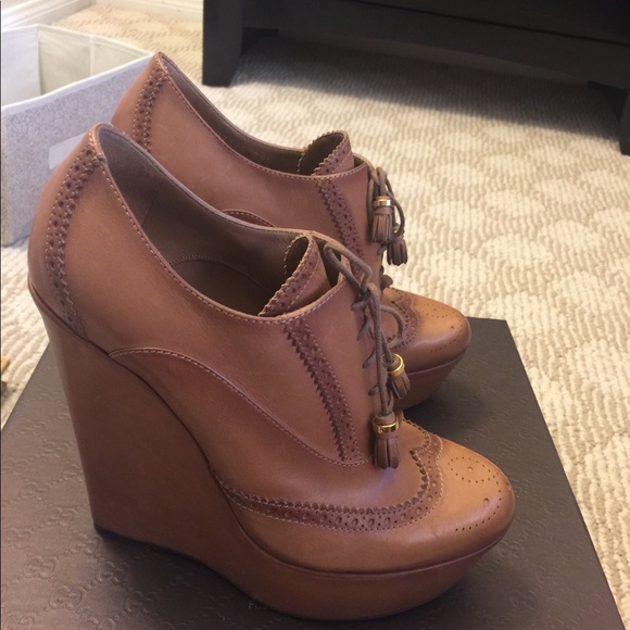 365c4f8ce5560f Authentic NEW Gucci oxford wedge heels shoes 39.5